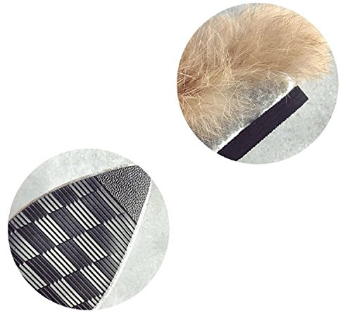Scarpe da donna Flip-Flops Fodera in pelliccia Pantofole comfort Punta piatta per tallone per vino nero casual Black