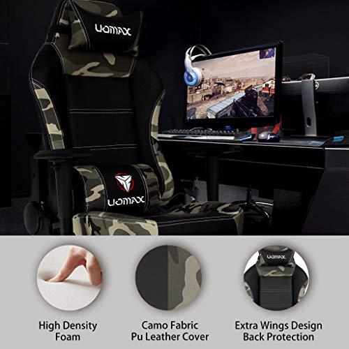 UOMAX Gaming Stuhl Ergonomische Kunstleder Bürostühle Für
