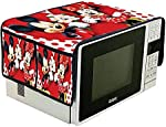 Amaziokart Jute Digital Printed Microwave Oven top Cover 14 * 34 inches with 4 Pocket Home Decor (Micky Mike)