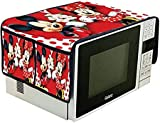 Amaziokart Jute Micky Mike Digital Printed Microwave Oven Top Cover with 4 Pocket (14 x 34 inches)