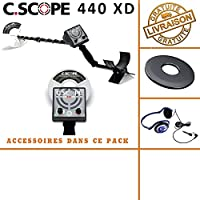 Detector de metales CS 440 x D con protege disco y casco