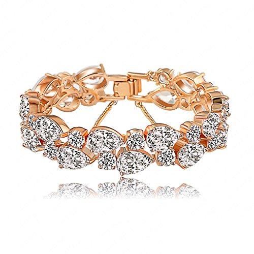 Verbindung Armbänders, Damen Aaa Zircon Armbänder 18K Gold/Rose Gold Plate Epinki (Tri-color Camo)