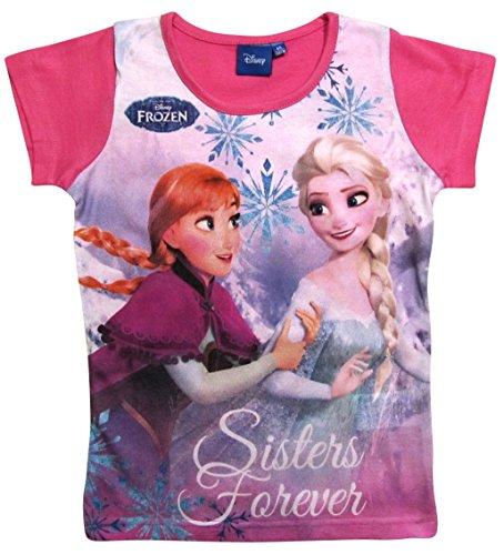 in Kollektion 2016 T-Shirt 98 104 110 116 122 128 134 Mädchen Disney Shirt Anna und Elsa (98 - 104, Darkrosa) (Disney Frozen Elsa Kind Hoodie)