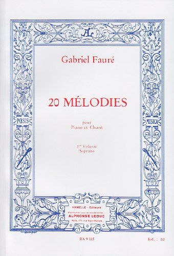 60 Mélodies en 3 Volumes, Volume 1 : 20 Mélodies
