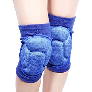 1 Pair Volleyball Thicken Knee Pads Brace for Knee Support -Sports Protective Knee Protector Rugby Kneepad (Blue)