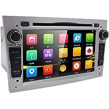 Argento 17,8cm auto audio stereo doppio DIN in dash per Opel Corsa Vectra Astra supporto GPS Navigation lettore DVD autoradio Bluetooth SD USB + mappa card + telecamera libera