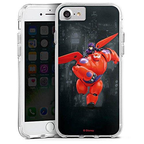 Apple iPhone X Bumper Hülle Bumper Case Glitzer Hülle Disney Baymax Merchandise Fanartikel Bumper Case transparent