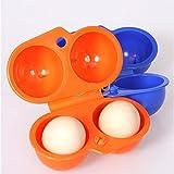 2 piezas al aire libre plegable de plástico Carry 2 huevos caja de la caja exterior de almacenamiento de contenedores