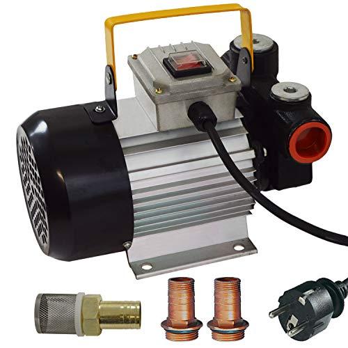 Dieselpumpe Heizölpumpe Ölpumpe Selbstansaugend Dieselpumpe Standart-4 230V Pumpe Leistungsstarker Motor Elektro Fass-Pumpe nur für Diesel und Heizöl, mit Notschalter und Doppel-Anschluss