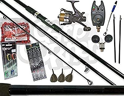 Carp Fishing Set up With 12ft 3 Peice Rod Reel Bite Alarm And Tackle & Bait by NGT