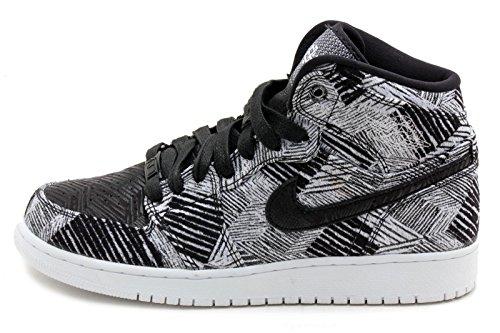 Nike Air Jordan 1 Retro High Bhm Gg, Chaussures de Running Entrainement Femme Blanc / Noir (Blanc / Noir)