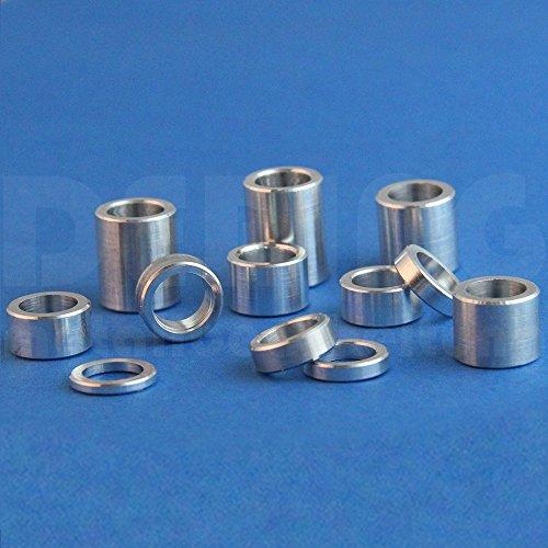 Distanzhülsen M8 aus Aluminium, D: 15mm, L: 20mm (VPE = 10 Stück) | Abstandhalter | Abstandshülse | Distanzbuchse | Distanzring | Distanzstück | Buchse | Rohling | Rohrbuchse | Verstärkungshülse
