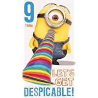Despicable Me Age 9 Birthday Card