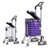 Treppensteigen Multifunktionsklappen Supermarkt 8 Rad Warenkorb mit Einkaufstasche und Sitz