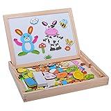 Cravog Bébé Enfants Doodle Bois Magnétique Puzzle Jouets éducatifs Animal Jeux Toy B98B