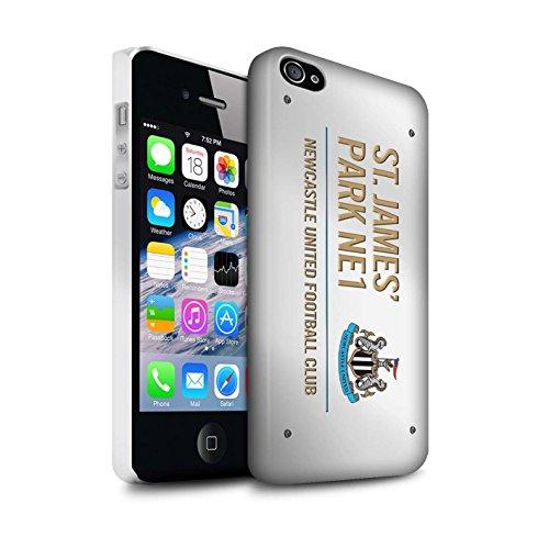 Offiziell Newcastle United FC Hülle / Matte Snap-On Case für Apple iPhone 4/4S / Pack 6pcs Muster / St James Park Zeichen Kollektion Weiß/Gold
