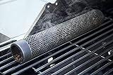 Plai, tubo affumicatore da 30cm in acciaio inox, per affumicare sulla griglia, fumo intenso