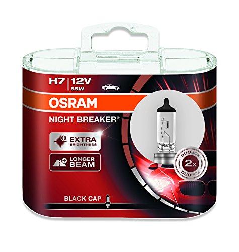 Osram - 64210NB-HCB Night Breaker H7, bombilla halógena para faros delanteros, 12V, caja duo (2bombillas)