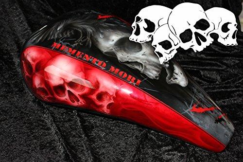 Airbrush Schablone für Schädel - Totenköpfe - Skull's Kopf Schädelhaufen (Schädel Malen Schablonen)