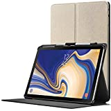 Forefront Cases Samsung Galaxy Tab S4 10.5 Hülle | Integrierter S-PEN Stifthalter & Stylusschutz | Magnetische Samsung Galaxy Tab S4 10.5 Zoll Tablet-PC SM-T830/T835 Cover | Automatische Schlaf-Wach-Funktion | Dünn Leicht | Gold + Stylus & Displayschutzfolie