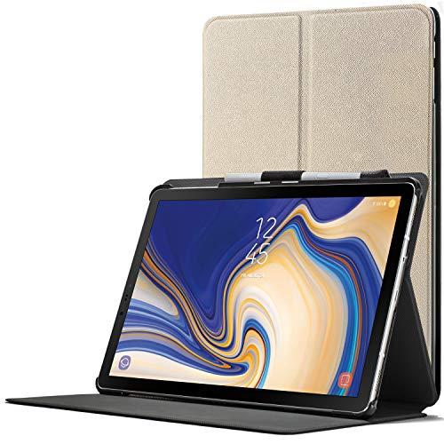 Forefront Cases Smart Hülle kompatibel für Samsung Galaxy Tab S4 10.5 | S-Pen Stifthalter | Magnetische Cover Galaxy Tab S4 10.5 Zoll Tablet-PC SM-T830/T835 | Auto Schlaf Wach Dünn Leicht | Gold