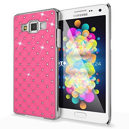 delightable24 Cover Protettiva Shiny Diamond Design Case per Smartphone SAMSUNG GALAXY A5 (2015) - Rosa Pink