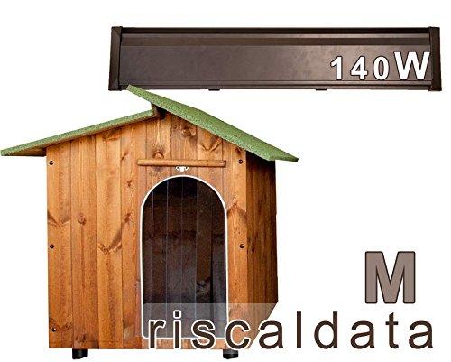 Cuccia per Amore Cuccia riscaldata in legno - Medium (57x80cm) Cuccia (mis.int. 57x80x75) + Kit scalda cuccia 140W