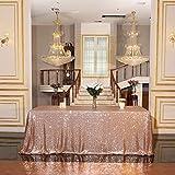 Eternal Beauty Nappes à paillettes pour mariage, Halloween, Noël, banquet, Tissu, rose gold, 127x203 cm