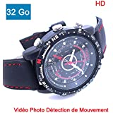 Cyber Express Electronics DV04M32 Montre mini Camera Cachee Espion 32 Go HD detecteur de mouvement HD
