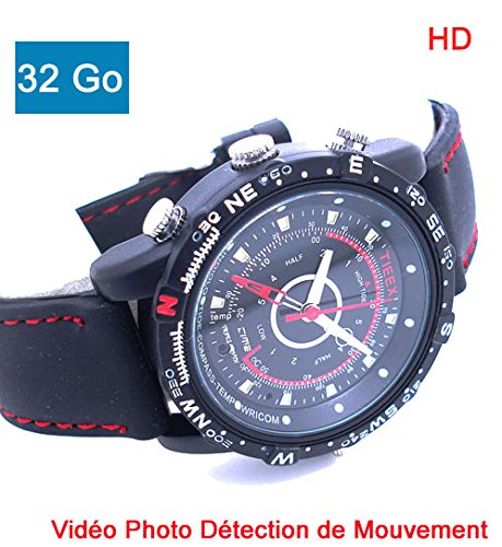 RELOJ ESPIA CON CAMARA HD 1280X960 MEMORIA 32 GB DETECCION DE MOVIMIENTO DV-04M-32
