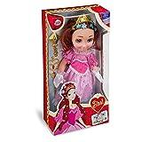 Grandi Giochi- GG02204, Principessa Sissi Bambola 35 cm, Colore Rosa o Azzurra