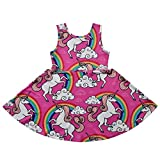 Jxstar Girls Princess Dress Unicorn Printed Cartoon Pattern Sleeveless Dress Bild 7