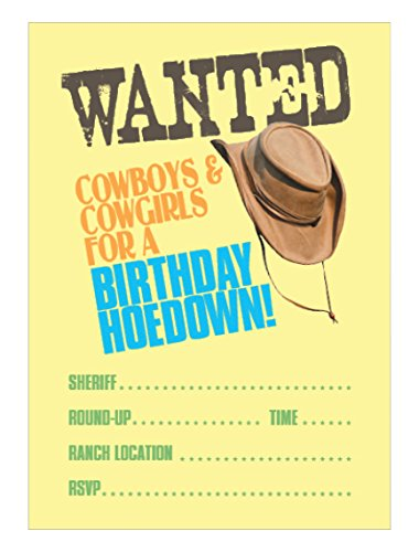 Apartment 2 Cards invite108 Cowboy Party Einladungen Füllen Party Einladung
