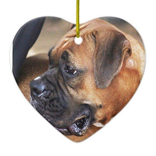 Neuheit Weihnachten Baum Decor Boxer Hund Keramik Ornament Herz Weihnachtsschmuck Ornament Crafts -