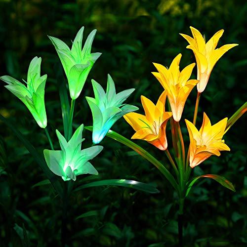 Lumières solaires en forme de fleurs, décoration de jardin
