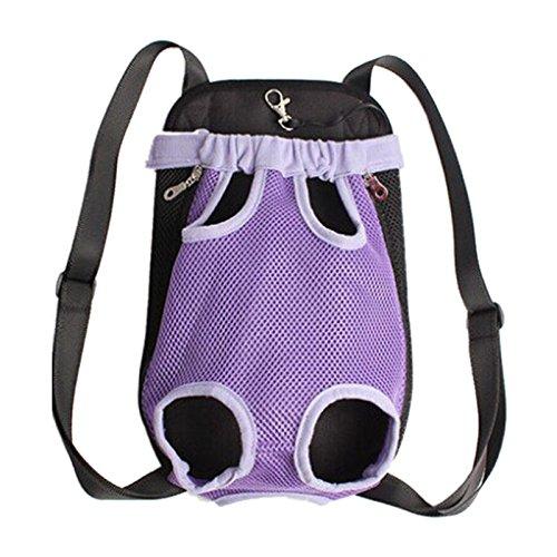 Imagen de bolsa de transporte de mascota  toogoo r  de nylon de neto de asas de portador frente de gato y perro para viaje m purpura alternativa