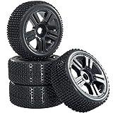 Buggy Reifen Felgenset Hunter mit 5-Speichenfelge schwarz 1:8 partCore 320025