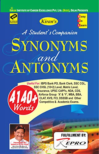 SYNONYMS AND ANTONYMS ENGLISH MEDIUM (1808) (English Edition ...