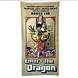 Digital Pharaoh Badetuch Handtush Enter The Dragon Filmplakat Bruce Lee (140cm x 70cm)