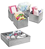 #6: House of Quirk Non-Woven Fabric Storage Organizer with Compartments, Grey