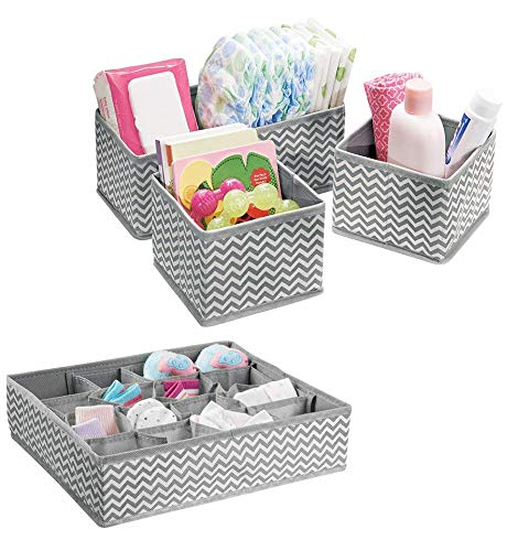 House of Quirk Non-Woven Fabric Storage Organizer with Compartments, Grey
