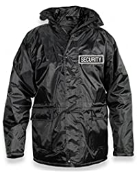 Protec Black Quilted Waterproof Security Door Supervisors Jacket