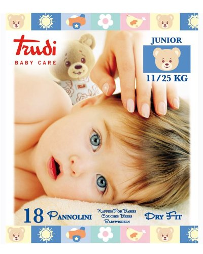 Trudi Baby Care Pannolini Morbidi Elastici Dri Fit 11/25 kg Per Bambini