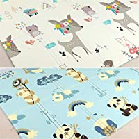 Hnks-Home Children Play Mat Baby XPE Living Room Game Mat Crawling Mat Folding Thickening Environmental Protection Children Climbing Mat Lightweight Foldable 1PC For use Outside or Indoors