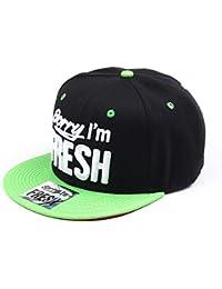 Sorry I'm Fresh Schwarz und Grün Snapback Baseballkappe (Black & Green)
