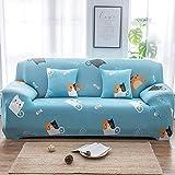 ZLULU Sesselbezug schonbezug sofa Niedliches Tier-Sofa Set Enge Tasche Voll Einzel- / Doppel- / DREI/Vier Sitz Gesetzt Elastischen Sofa-Set, 2-Sitzer