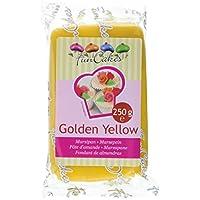 FunCakes mandelhaltige Zuckermasse Golden yellow, 1er Pack (1 x 250 g)