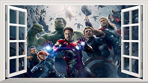 Chicbanners Marvel Los Vengadores superhéroe V2013D Magic Ventana Pared Adhesivo Adhesivo póster de Pared Arte Tamaño 1000mm de Ancho x 600mm de Profundidad (tamaño Grande)