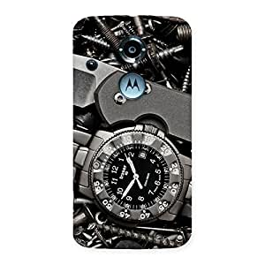 Stylish Knife And Watch Back Case Cover for Moto X 2nd Gen