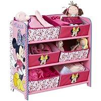 Preisvergleich für Minnie Mouse - Regal zur Spielzeugaufbewahrung mit sechs Kisten für Kinder